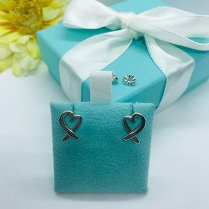 Tiffany & Co Large loving heart earrings